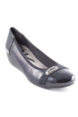 Anne Klein Zapatos de cuña negro look casual