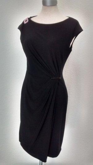 Anne Klein Kleid schwarz Gr. UK 6 EUR 34 gerraft