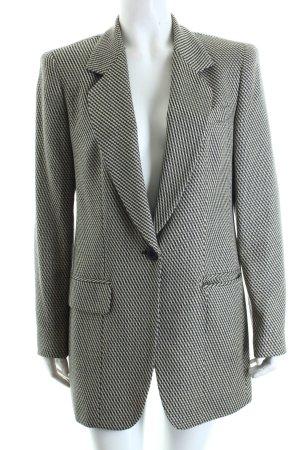Anne Klein Long Blazer beige-dark blue zigzag pattern casual look