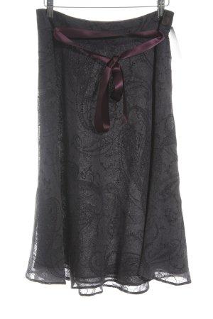 Anne Klein Falda midi violeta oscuro-rojo zarzamora elegante