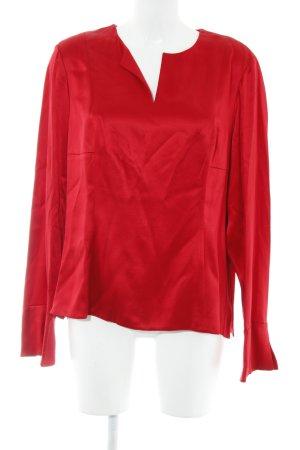Anne Klein Zijden blouse rood casual uitstraling