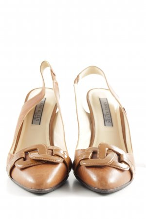 Anne Klein Pointed Toe Pumps brown business style
