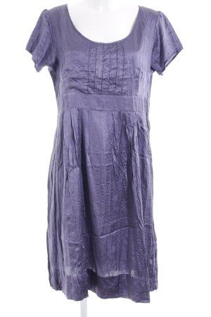 Anne L. A-lijn jurk paars wetlook
