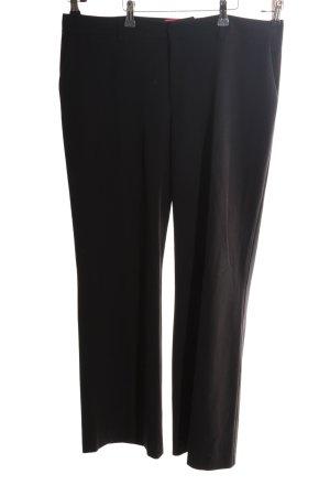 Anne L. Pantalon de costume noir style d'affaires