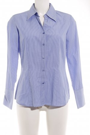 Anne L. Shirt Blouse azure-natural white striped pattern business style