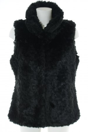Anne L. Fake Fur Vest black casual look