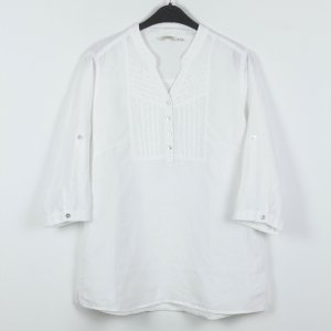 Anne L. Blouse white linen