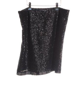 Anne L. Minirock schwarz extravaganter Stil