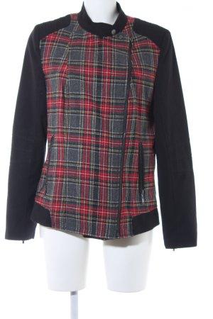 Anne L. Outdoor Jacket black glen check pattern casual look