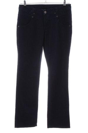 Anne L. Jeans slim noir style décontracté