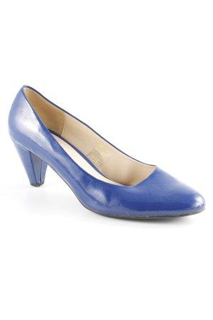 Anne L. Spangen-Pumps blau klassischer Stil