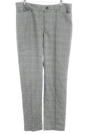 Anne L. Jersey Pants check pattern business style