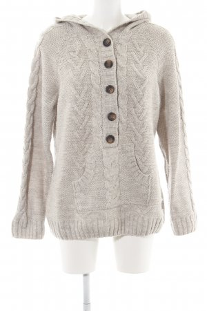 Anne L. Strickpullover wollweiß Zopfmuster Casual-Look