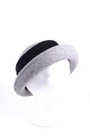 Anne L. Wollhut grau-schwarz klassischer Stil