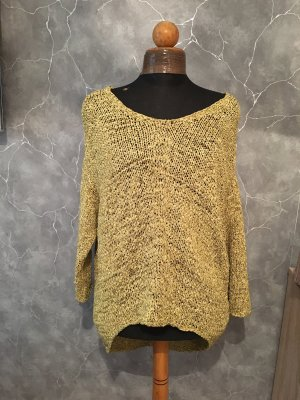 Annette Görtz Crochet Sweater gold-colored