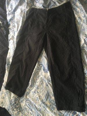 Annette Görtz Pantalón tobillero negro-color plata tejido mezclado