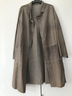 Annette Görtz Leather Coat grey brown leather