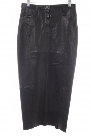 Annette Görtz Leather Skirt black extravagant style