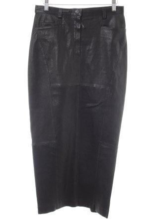 Annette Görtz Falda de cuero negro estilo extravagante