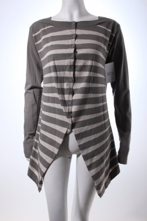 Annette Görtz Cardigan light grey-grey striped pattern casual look