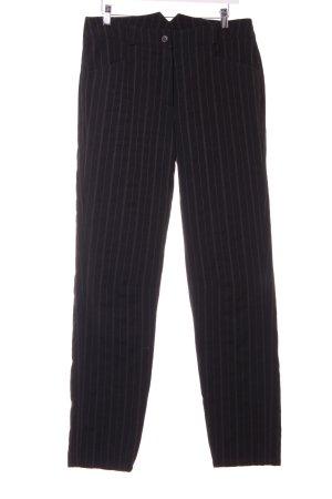 Annette Görtz Pantalón de lana negro-gris claro raya diplomática elegante