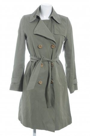 Annette Rufeger Trenchcoat grasgroen simpele stijl