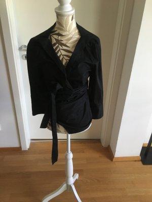 Blusa cruzada negro Algodón