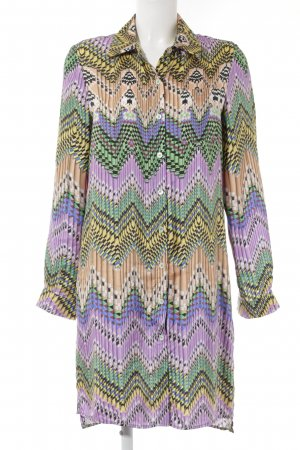 Anni Carlsson Zijden blouse abstract patroon extravagante stijl