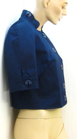 Blazer court bleu foncé coton