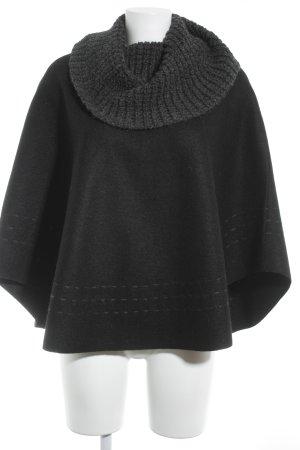 Anntarah Poncho black-grey simple style