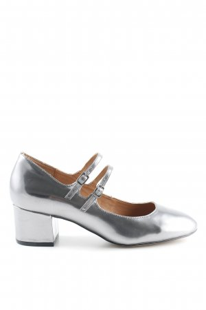 Another A Tacones Mary Jane color plata elegante