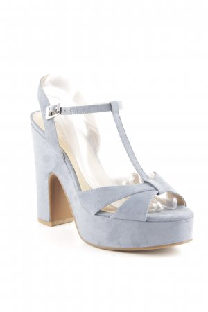 Another A Peep Toe Pumps cornflower blue Boho look