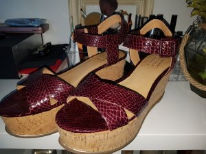 Another A Plateauzool Sandalen met Hoge Hakken donkerrood