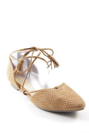 Another A Sandalias de tiras beige estampado de zigzag Estilo playero