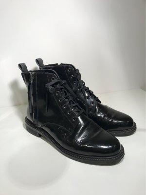 Another A Bottes à lacets noir