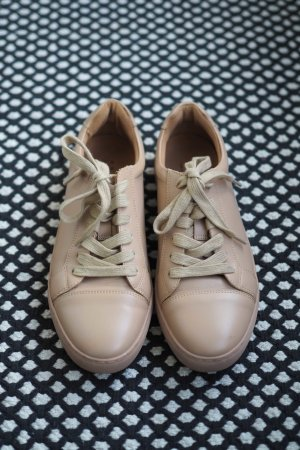Another A Lace-Up Sneaker nude leather
