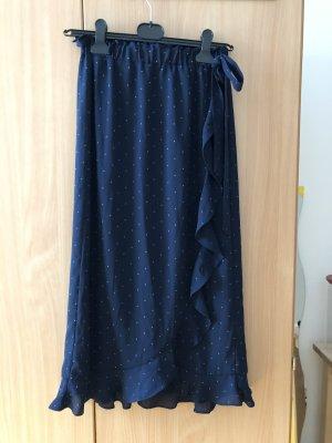 Kauf Dich Glücklich Falda midi azul oscuro-crema