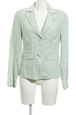 another woman Blazer corto verde pallido puntinato stile semplice