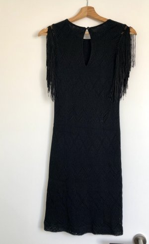 Fringed Dress black