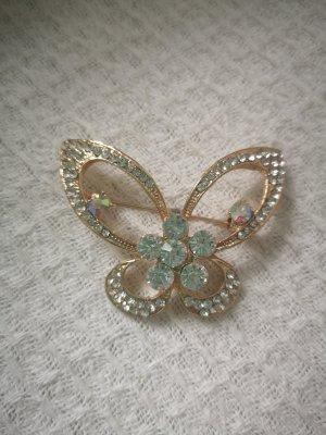 Anstecker Brosche Butterfly mit Strass