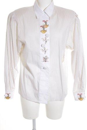 Anthea Long Sleeve Shirt cream-beige striped pattern extravagant style