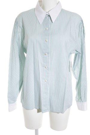 Anthea Langarmhemd grün-weiß Streifenmuster Business-Look