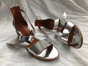 Anthology Paris! NEU! Sandalen mit Absatz in Silber (39)
