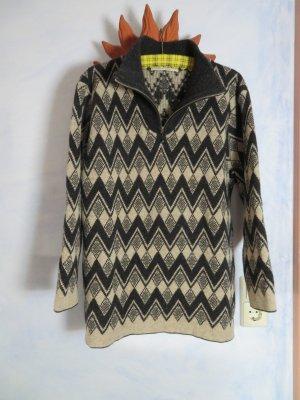 Connemara Norwegian Sweater natural white-anthracite merino wool