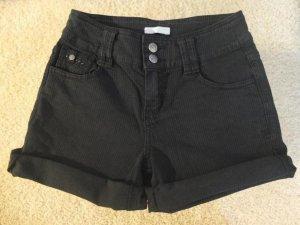Anthrazitfarbene Shorts von Promod Ripp gerippt Cordlook XS