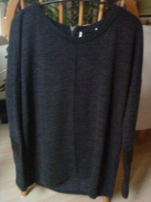 anthrazitfarbener Oversized Pullover in Größe 38 Vero moda