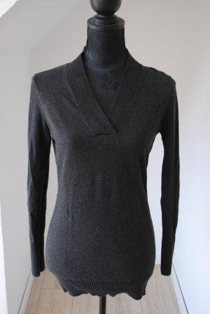 Apanage Jersey con cuello de pico gris antracita-negro