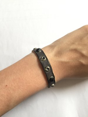 Leather Bracelet anthracite leather