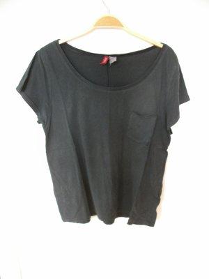 anthrazitfarbenes T-Shirt