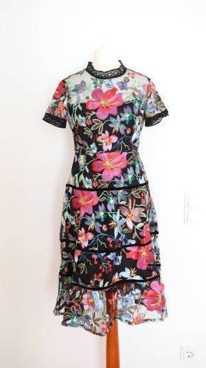 Anthropologie Vestido de chifón multicolor
